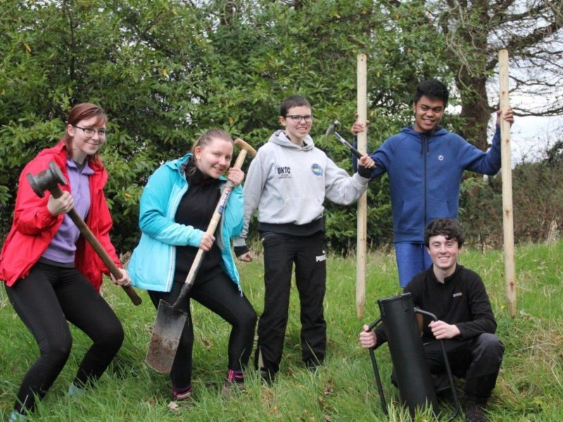 Grassroots Challenge DofE Residentail Tree Planting session