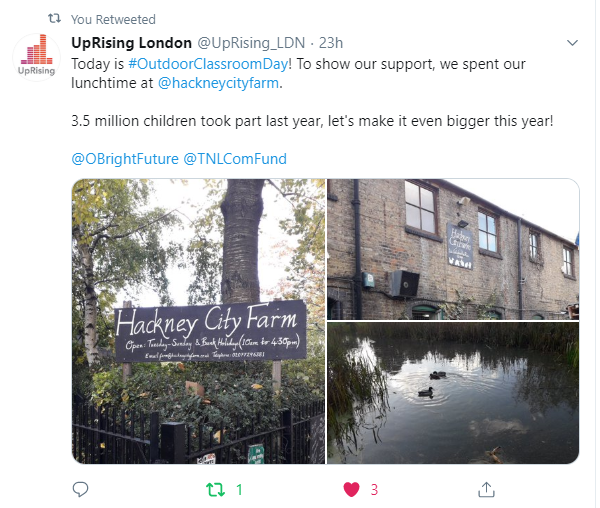 Outdoor Classroom Day UpRising London